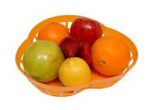 Plaque avec le fruit Images stock