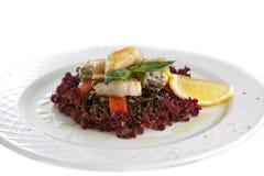 Plaque avec le repas. image stock
