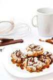 Plaque avec les biscuits faits maison Photos libres de droits