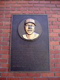 Plaque of baseball legend Willie McCovey on wall Stock Images