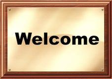 Plaque bienvenue d'hôtel Image libre de droits