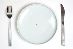 Plaque blanche vide Photo stock
