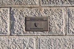 Plaque Brooklyn Bridge. National Historic Civil Engineering Landmark, Brooklyn Bridge plaque Stock Photography