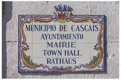 Plaque - CaisCais - Portugal Royalty Free Stock Image