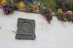 Plaque commémorative de Washington Irving en Séville, Espagne Image libre de droits
