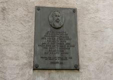 Plaque commémorative, John III Sobieski, Vienne, Autriche photos libres de droits