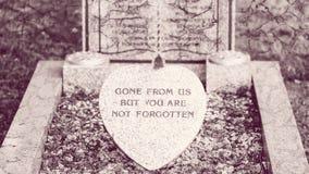 Plaque commémorative sur la tombe Photos stock