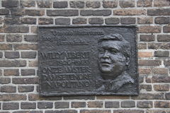 Plaque commemorating the Westertoren Willy Alberti, singer, Amsterdam Royalty Free Stock Photos