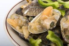 Plaque complètement des huîtres Photos stock
