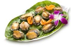 Plaque complètement des huîtres Photos libres de droits