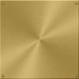 Plaque d'or Images libres de droits
