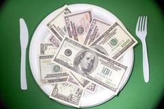 Plaque d'argent Photographie stock