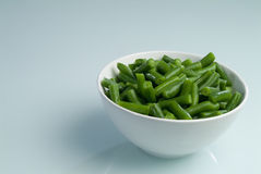 Plaque d'haricots verts Image stock
