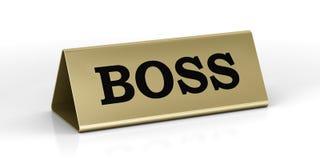 Plaque d'identification d'or de la position de bossage Image stock