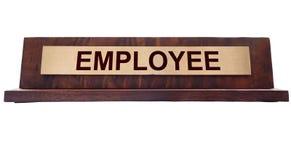 Plaque d'identification des employés Photos stock