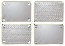 Plaque d'identification en métal illustration stock