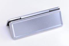 Plaque d'identification en métal Images stock
