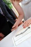 Plaque d'immatriculation de mariage Image libre de droits