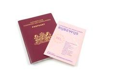 Plaque d'immatriculation et passeport de gestionnaires hollandais Photographie stock