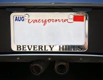 Plaque de carte grise de Beverly Hills Image libre de droits