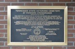 Plaque de cimetière de vétérans chez Parker Crossroads photos libres de droits