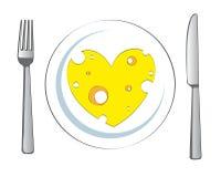 Plaque de coeur de fromage Image libre de droits