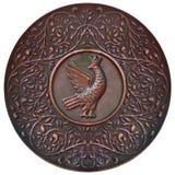 Plaque de cuivre Photographie stock libre de droits