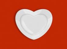 Plaque de forme de coeur Images libres de droits