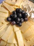 Plaque de fromages Images libres de droits