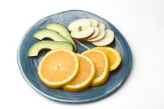 Plaque de fruit photos stock