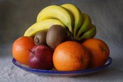 Plaque de fruit frais Images libres de droits