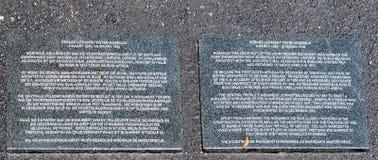 Plaque de granit pour l'architecte du monument de Voortrekker, Gerha photo stock