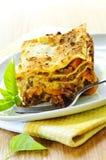 Plaque de lasagne Photo stock