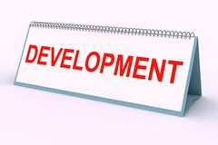 Plaque de lettre (développement) Image stock