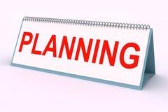 Plaque de lettre (planification) Photo libre de droits