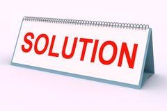 Plaque de lettre (solution) Photo libre de droits