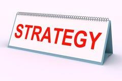 Plaque de lettre (stratégie) Photo libre de droits