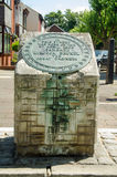 Plaque de lieu de naissance de Brunel, Portsmouth Images stock