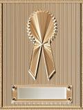 plaque de médaille d'or Images stock