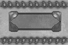 Plaque de métal Images stock