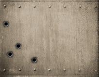 Plaque de métal avec l'illustration des trous de balle 3d Image libre de droits