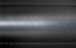 Plaque de métal avec le fond d'illustration des rivets 3d Image libre de droits