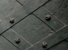 Plaque de métal avec plats tordus Photo libre de droits