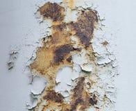 Plaque de métal blanche rustique pour la texture images libres de droits