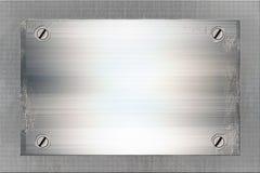 Plaque de métal criquée Photo stock