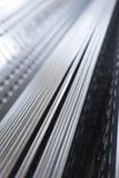 Plaque de métal de Perfored Photographie stock libre de droits