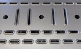 Plaque de métal de Perfored Photos libres de droits
