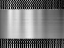 Plaque de métal en acier ou en aluminium au-dessus de gril photo stock
