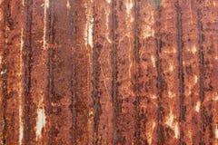 Plaque de métal ondulée, verticale Images libres de droits