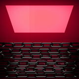 Plaque de métal rouge avec une certaine réflexion Photos libres de droits